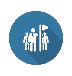 Team Leader Icon Flat Design vector image