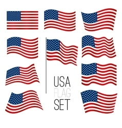 United States flag set vector image