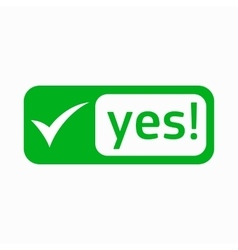 Yes check mark icon simple style vector