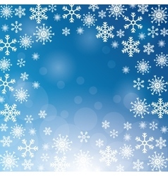 Winter snowflake christmas blue icon vector