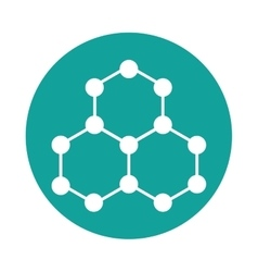 Molecule structure isolated icon vector