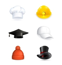 Hats set vector image