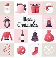 Christmas design template card holiday vector