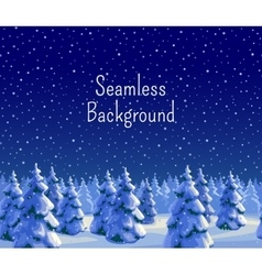 Fir forest seamless background vector
