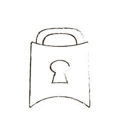 padlock lock security money bank sketch vector image