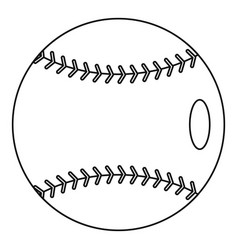 Baseball icon outline style vector