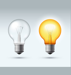 Light bulb switched on and off vector