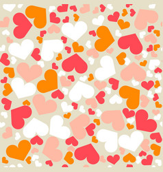 Seamless retro geometric pattern with hearts vector