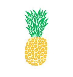 Pineapple tropical fruit vector