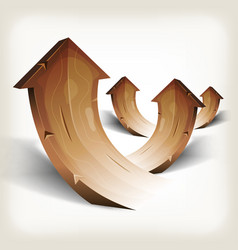 Abstract wood rising arrows vector