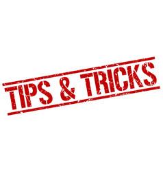 Tips tricks stamp vector