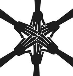 hands help design vector image