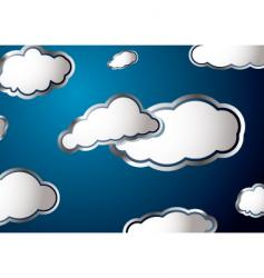 Weather cloud vector
