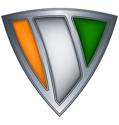 Steel shield ivory coast vector