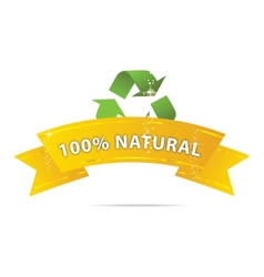 Eco gold ribbon vector