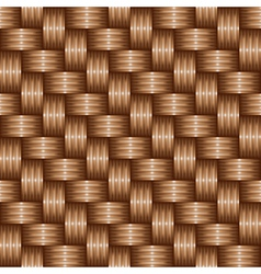Brown weaving pattren vector