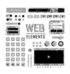 Web elements of gold glittering vector