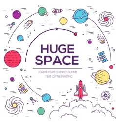 Set of huge space universe  space vector