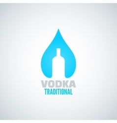 Vodka bottle drop background vector