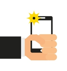 Selfie photographic smartphone icon vector