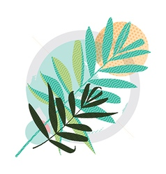 Abstract colored modern Greeting card vector image