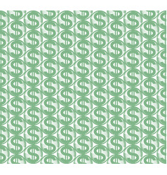 abstract dollar symbol pattern vector image vector image