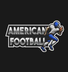 american football emblem vector image