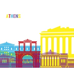 Athens skyline pop vector image vector image