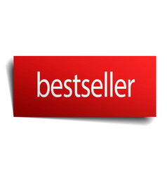 Bestseller red paper sign isolated on white vector