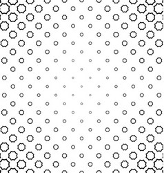 Black and white curved octagon pattern background vector