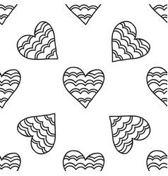 Black and white seamless pattern with decorative vector