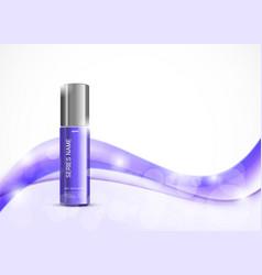 Body cream cosmetic ads template vector