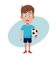 Boy sport soccer image vector