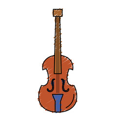 cello musical instrument icon vector image