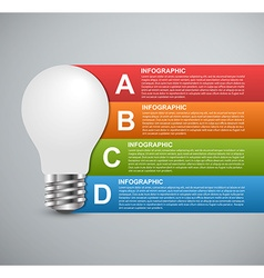 Creative 3D light bulb infographics design vector image