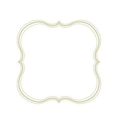 Decorative green frame vector