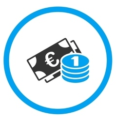 Euro Cash Money Rounded Icon vector image