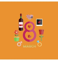 Flat modern 8 march backgrounds eps10 vector