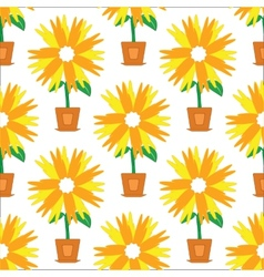 Flower with straight petals pattern vector