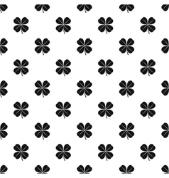 Four leaf clover leaf pattern simple style vector