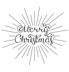 Hand drawn christmas wishes vector