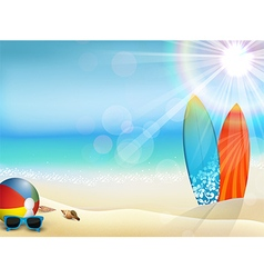 Holiday background on beach vector image vector image
