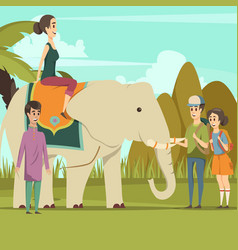 Indian elephant background vector