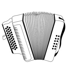 isolated accordion outline vector image vector image