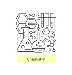 Modern thin line icons of chemistry vector