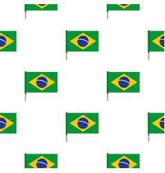 National flag of brazil pattern seamless vector