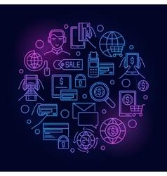 Online payment blue vector image