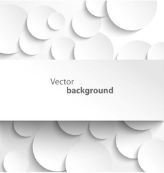 Paper banner on circle background vector image vector image