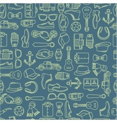 Pattern of fashion accessories vector