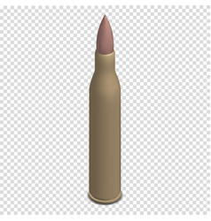 Photorealistic cartridge with a bullet in vector